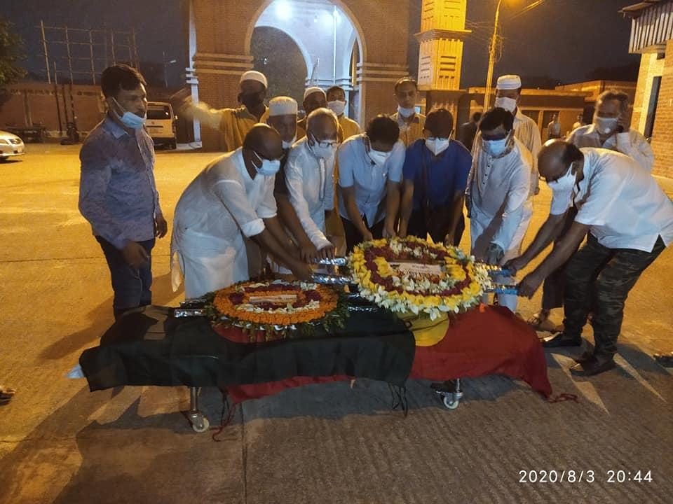 পূর্ণ রাষ্ট্রীয় মর্যাদায় জাতীয় বীর, বীর মুক্তিযোদ্ধা, জাসদ নেতা এড হাবিবুর রহমান শওকত সমাহিত