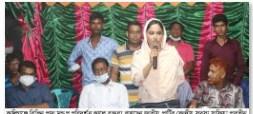 কালিগঞ্জে বিভিন্ন মন্ডপ পরিদর্শন করলেন জাপা'র কেন্দ্রীয় সদস্য সাফিয়া